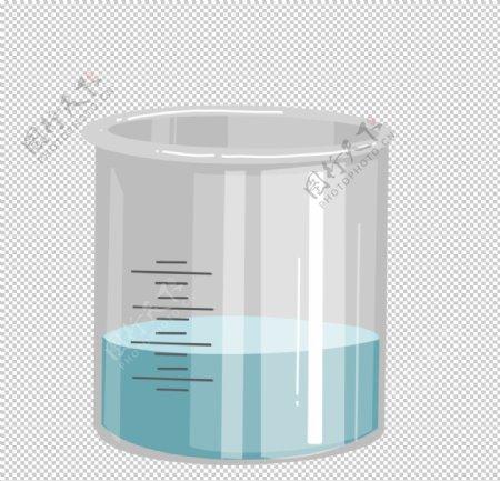 烧杯化学实验器材PNG图片
