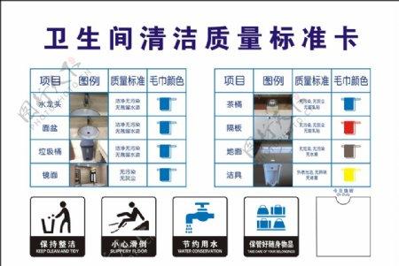 卫生间清洁质量标准卡图片