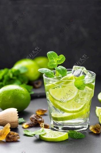 薄荷柠檬水图片