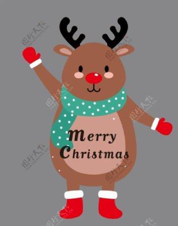 圣诞节素材鹿图片