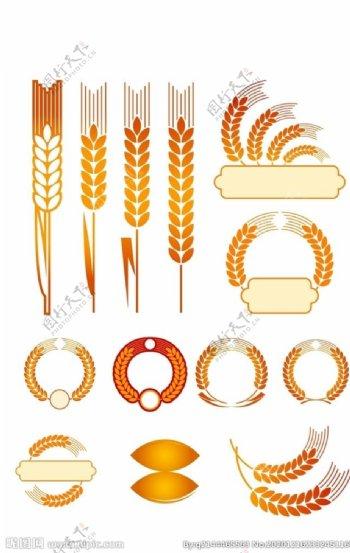 麦穗矢量素材图片