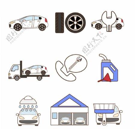 矢量交通工具图标图片