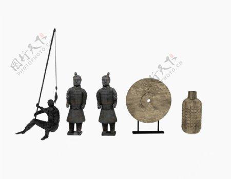 兵马俑装饰3d模型图片