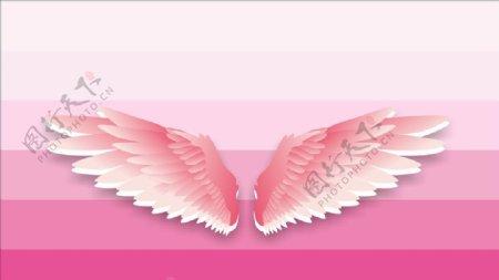 粉色翅膀图片