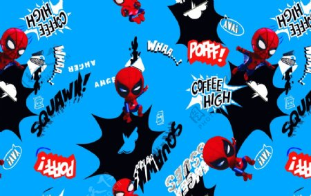 卡通泼墨蜘蛛侠图片