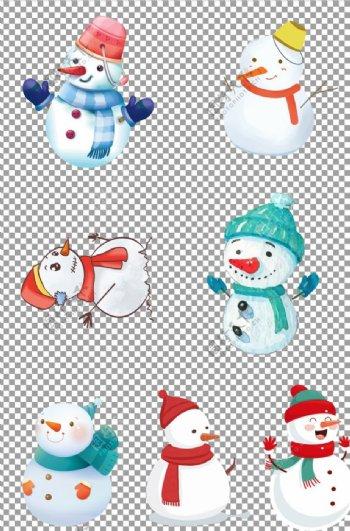 可爱冬季雪人图片