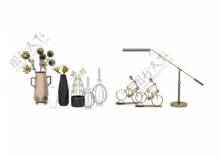 花瓶装饰品3d模型图片