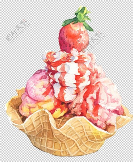 冰淇淋蛋糕图片