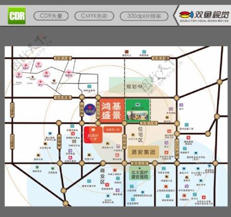 房地产区位图图片