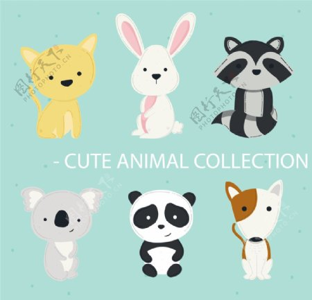 卡通动物熊猫图片