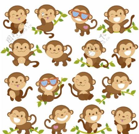 卡通动物猴子图片