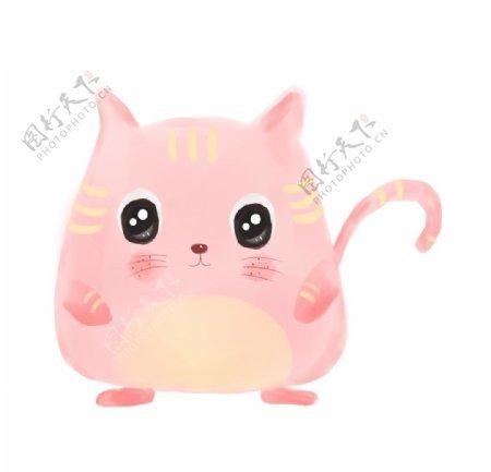 粉色可爱猫咪图片