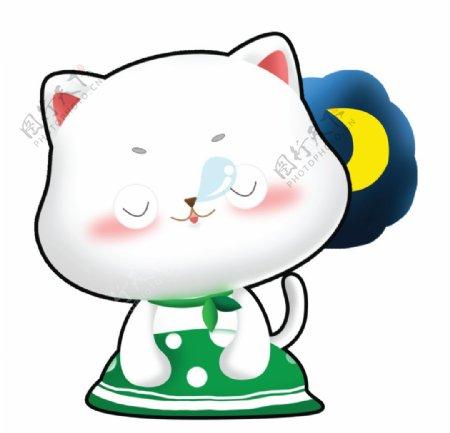 可爱呆萌卡通猫咪图片