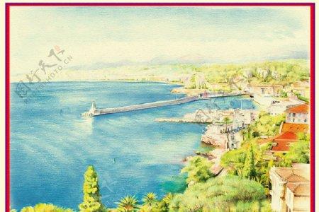 海湾风景别墅图片