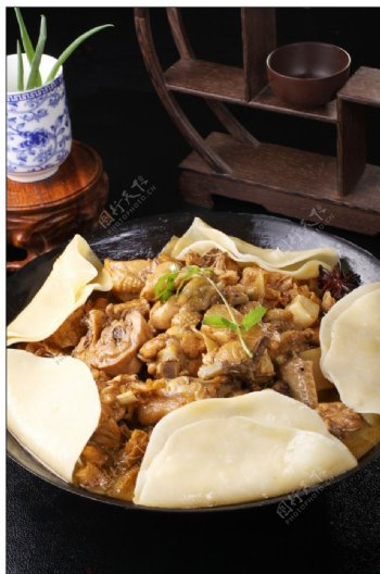锅鸡高清图片