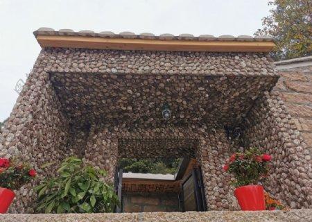 海蛎壳墙壁图片