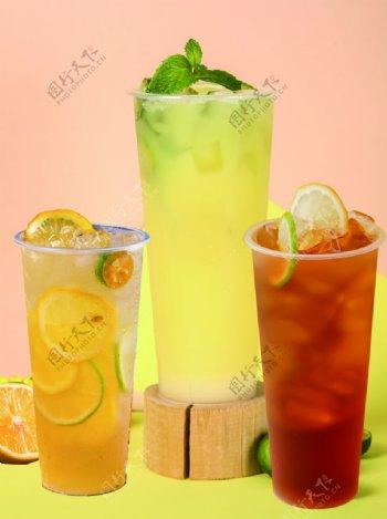 柠檬红绿茶图片