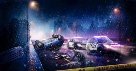 合成车祸现场图片