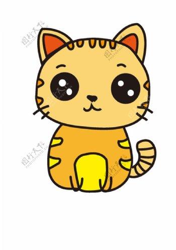可爱的小黄猫图片