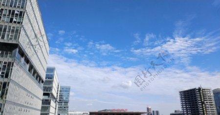 南京南站蓝天白云图片