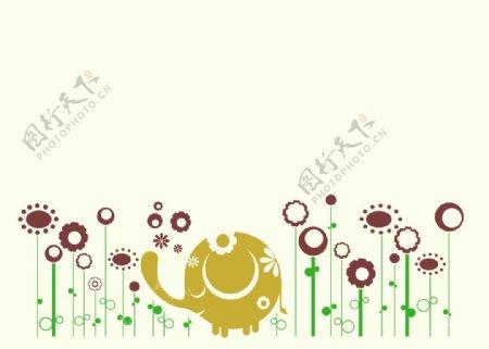 硅藻泥儿童背景墙贴卡通图片