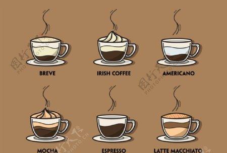 咖啡元素图标图片