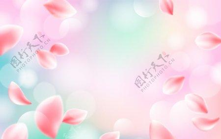 粉色背景清新背景化妆品背景图片