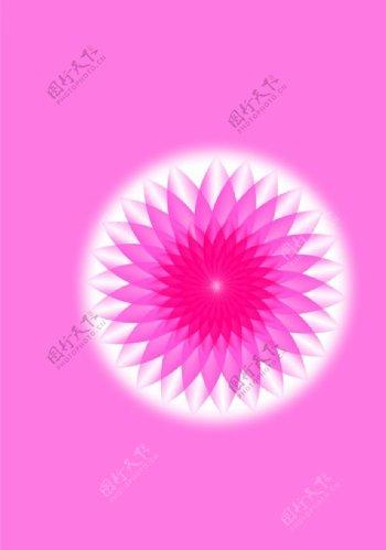 几何唯美花纹图片