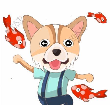 锦鲤小狗图片