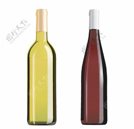 玻璃瓶矢量图图片