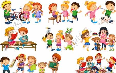 卡通儿童集合图片