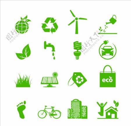 环保图标垃圾回收垃圾分类图片