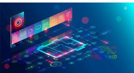 通信信号素材格式蓝色背景图G图片