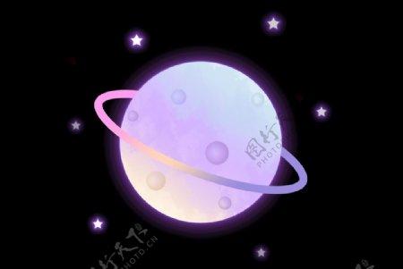 卡通渐变风星球元素图片
